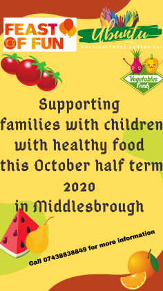 Helping to feed struggling families with children this half term